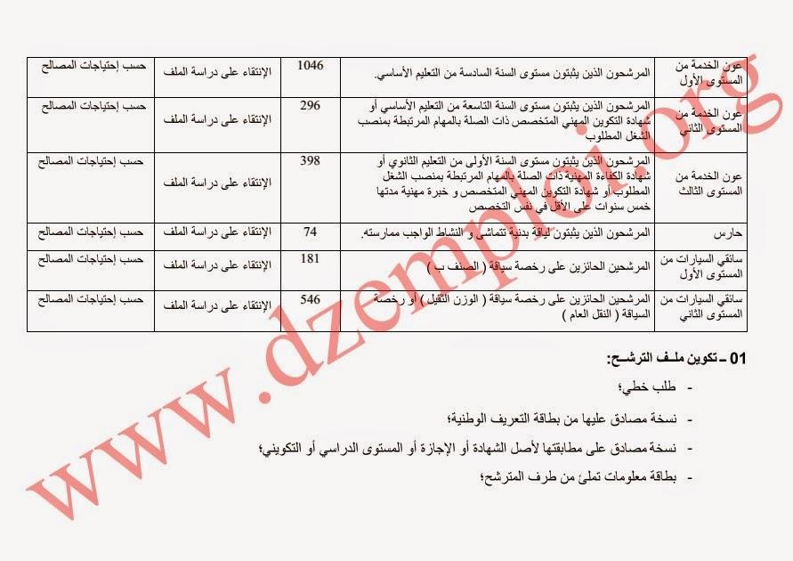 إعلان توظيف الأعوان المتعاقدين الشبهيين بالمديرية العامة للأمن الوطني 3
