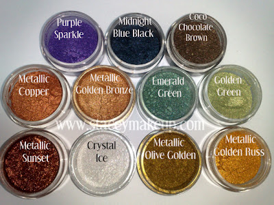Mineral eyeshadows by Femi Cosmetics