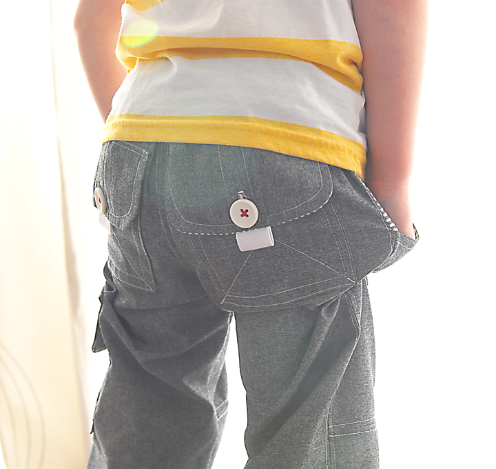 The Boys Cargo Pants {sew along day 1} - Shwin and Shwin