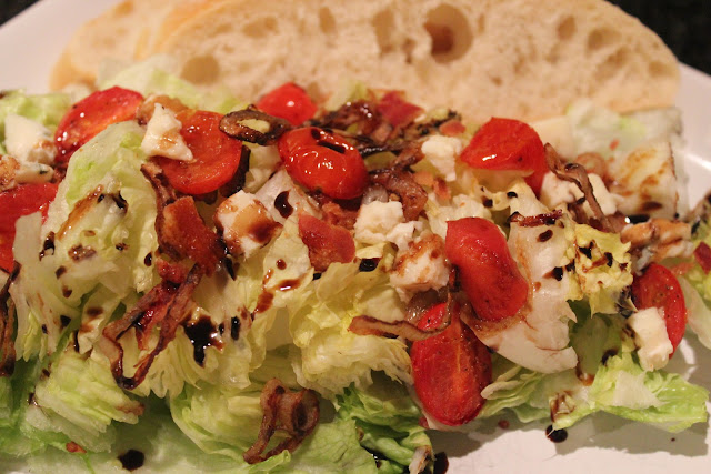Winter wedge salad with Roquefort