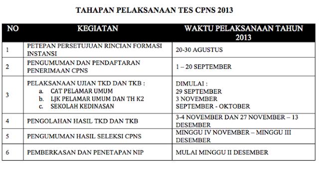 Pengumuman Hasil Tes TKD CPNS Honorer K2 dan Pelamar Umum 2013