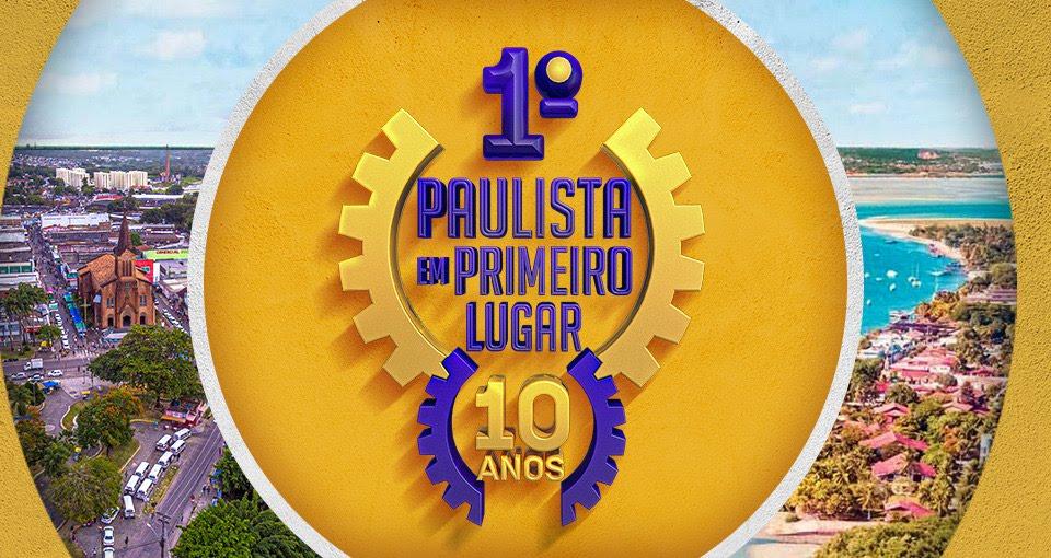 Paulista em 1º lugar