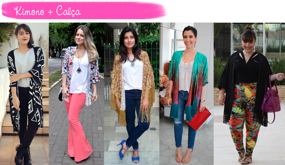 Como usar, Kimono, calça, tendência