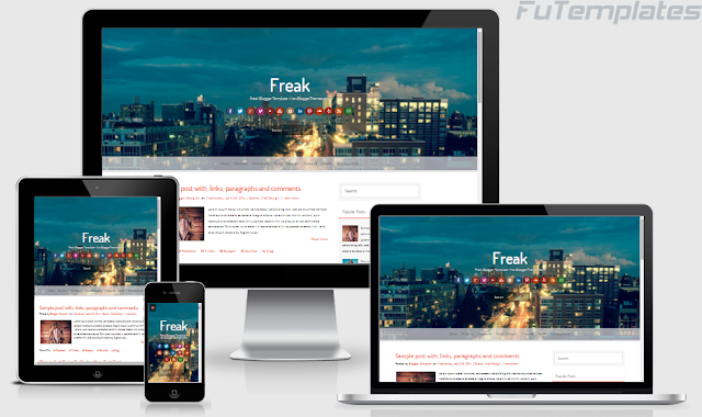 Freak Blogger Template by NewBloggerThemes