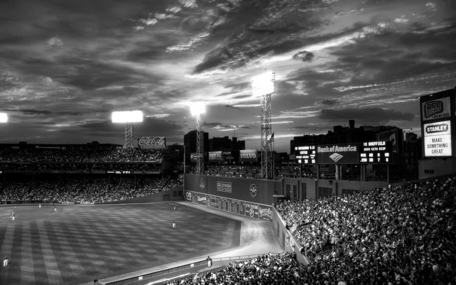 Baseball stadium black and white HD photos