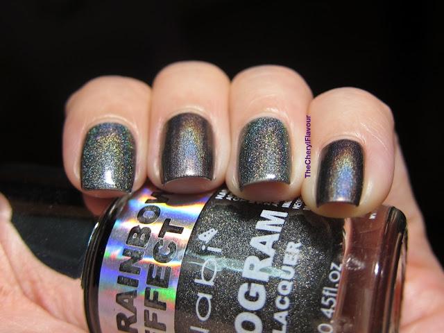 Nabi Holographic Black vs China Glaze Galactic Gray