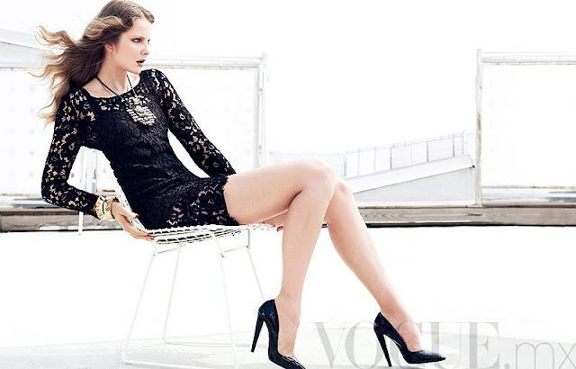Eniko Mihalik sexy in black dress