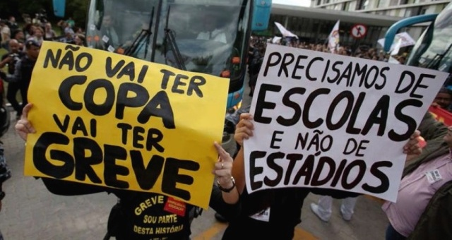 Protestas por el Copa del Mundo Brasil