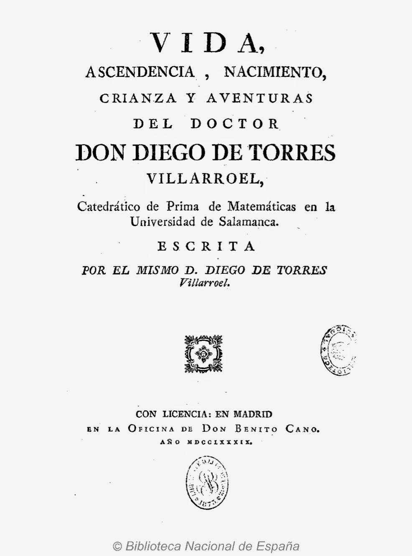 Vida de don Diego Torres Villarroel