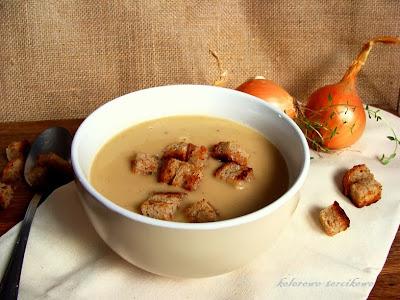 Kremowa zupa cebulowo-serowa