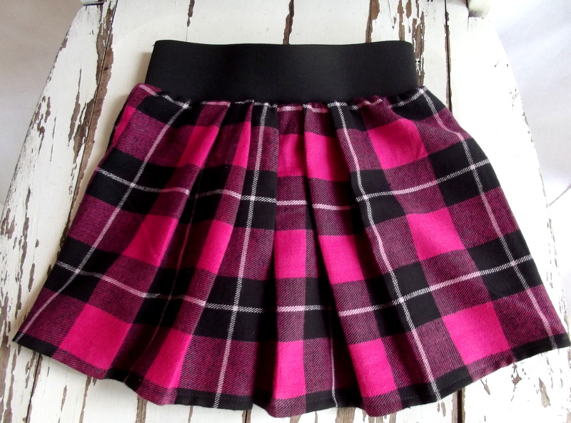 Morning By Morning Productions Little Pleated Plaid Skirt
