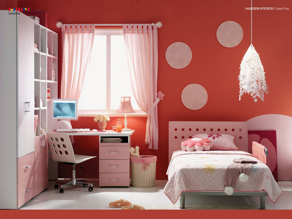 Interior designs kids room for Interior design for bedroom red