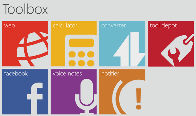 Toolbox Windows 8 App