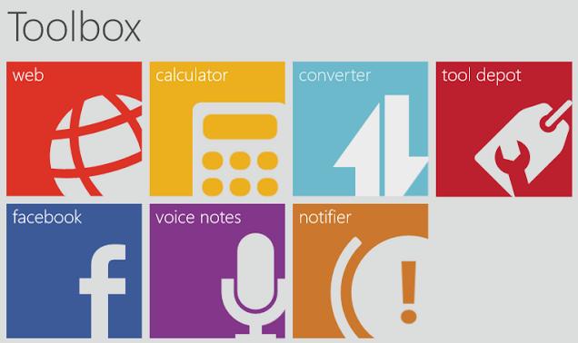 Toolbox Windows 8 App