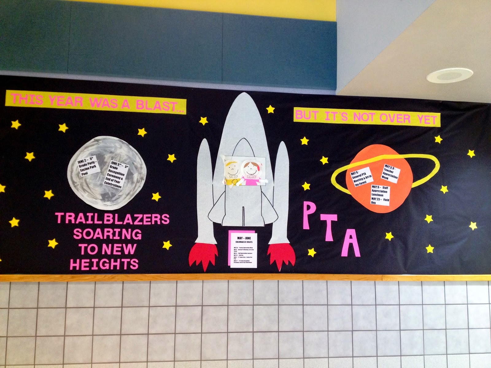 end of year bulletin board ideas for teachers or PTA