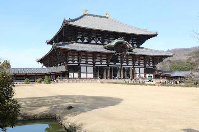 Todai-ji Temple is recognized as a World Cultural Heritage Site at Nara Park in Japan