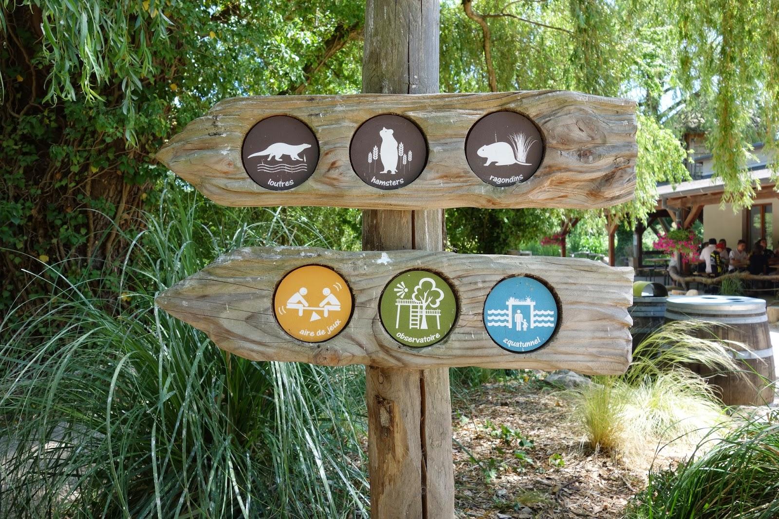 Парк Аистов-указательные знаки