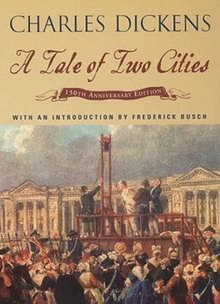 Cover of A Tale of Two Cities, a novel by Charles Dickens
