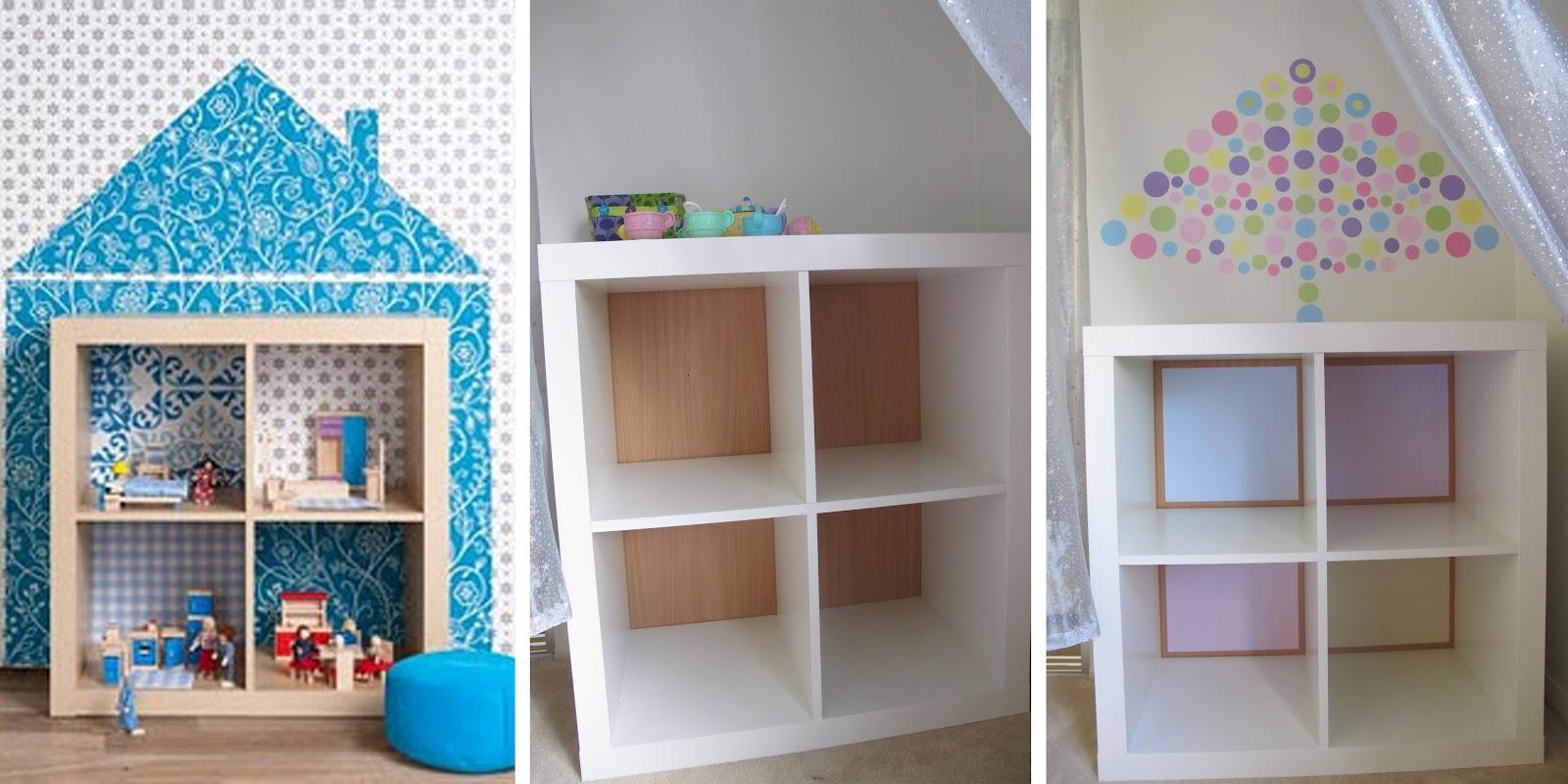 little ladybird ikea hack bookshelf turned dollhouse. Black Bedroom Furniture Sets. Home Design Ideas
