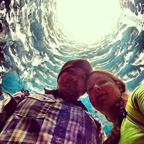 selfie en cuevas de hielo