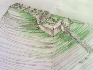 Sketsa imajiner Gunung Padang