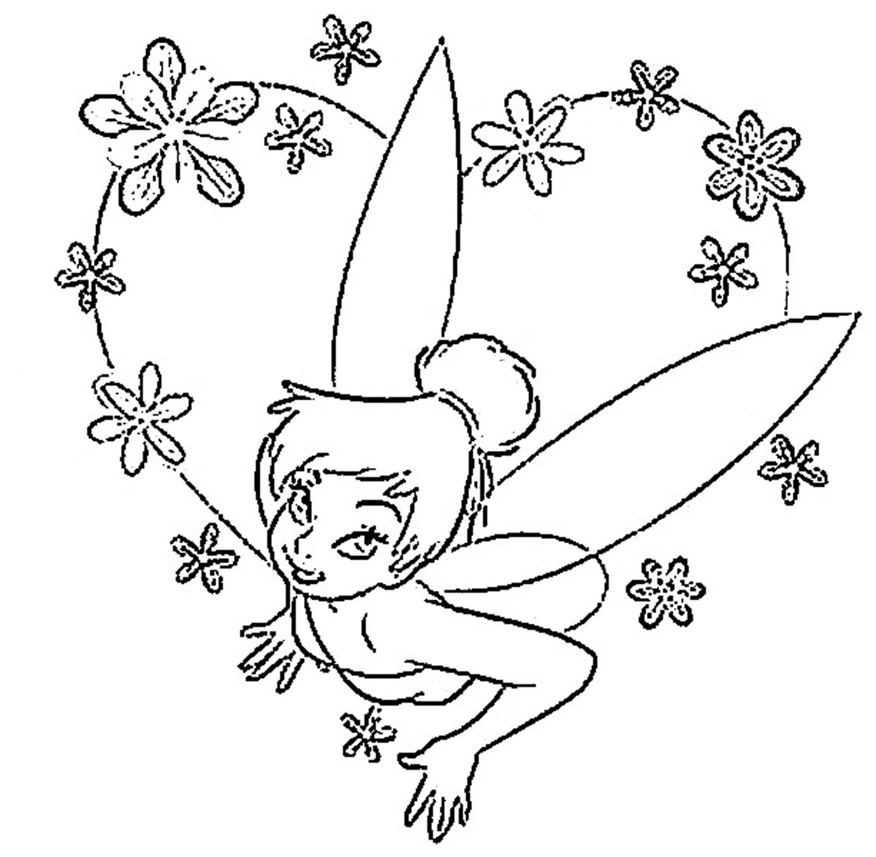 i love tinkerbell coloring pages - photo#49