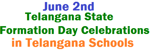 June 2nd Telangana State Formation Day Celebrations in TS Schools from ...
