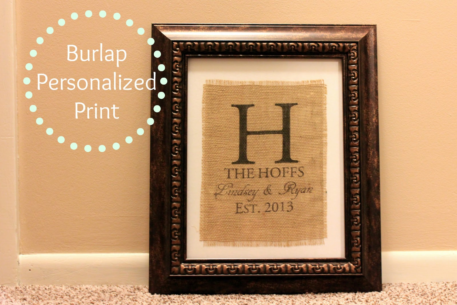 ... Pink Daisies: How to Print on Burlap and a Personalized Wedding Gift