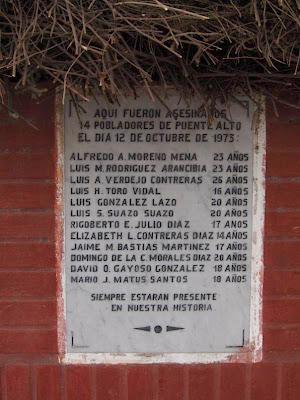 Placa conmemorativa por los fusilados