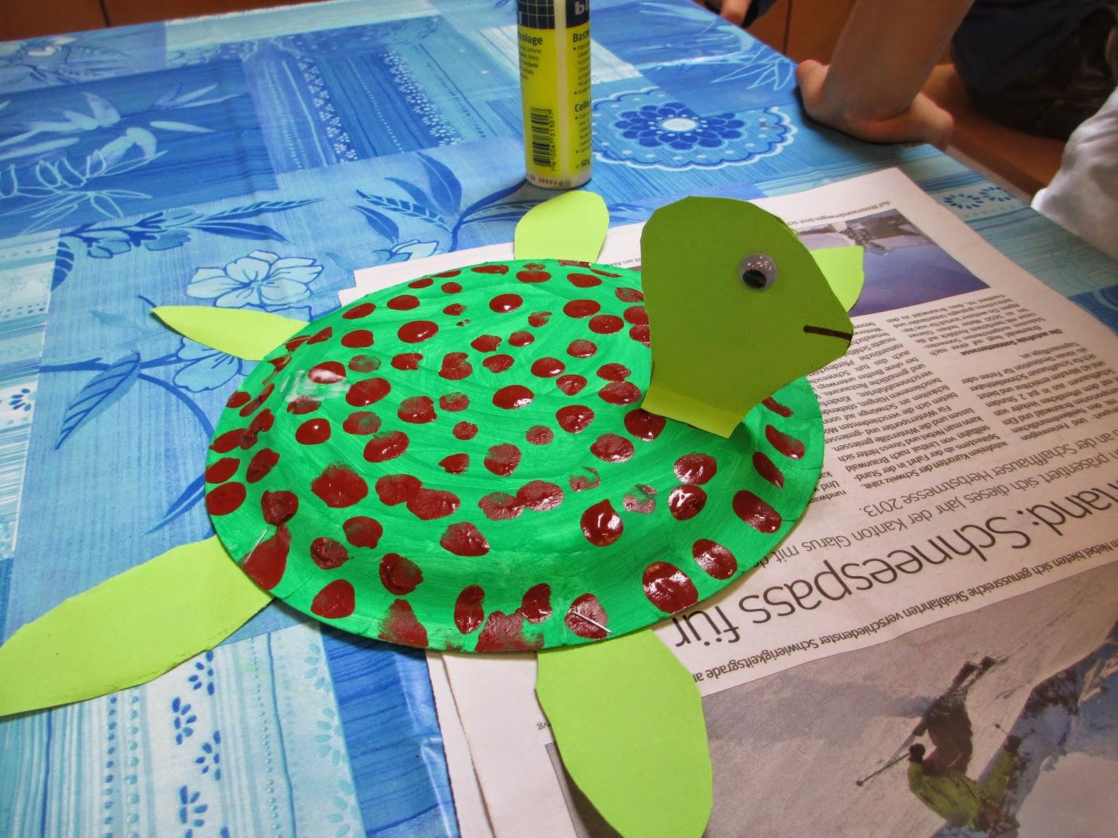 Schildkröte aus Pappteller