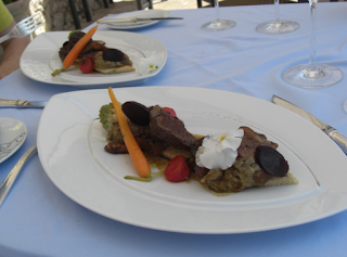 Amazing Filet Steak at Chateau Eza in Eze