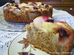 APPLE cranberry SAMBUCA maple torte cake