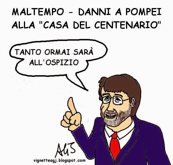 franceschini, Pompei, vignetta , satira