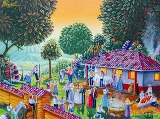 Pintores paisajes Naif Oleo