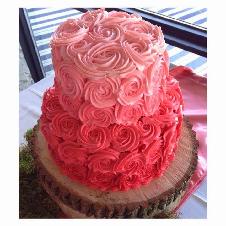 Pink Rosette Cake Images : Beautiful Ombre Cake Ideas For All Occasions - Crafty Morning