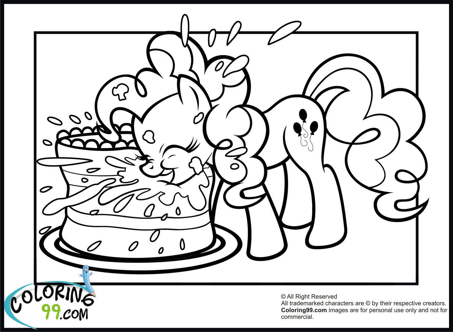 My Little Pony Pinkie Pie Coloring Pages Team colors
