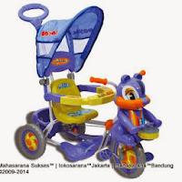 Sepeda Roda Tiga Royal RY7788C Baby Joy Tupai Kanopi