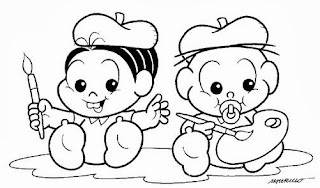 desenho turma da monica babe para pintar