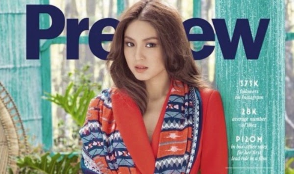 Nadine Lustre graces cover of Preview Magazine Nov 2014