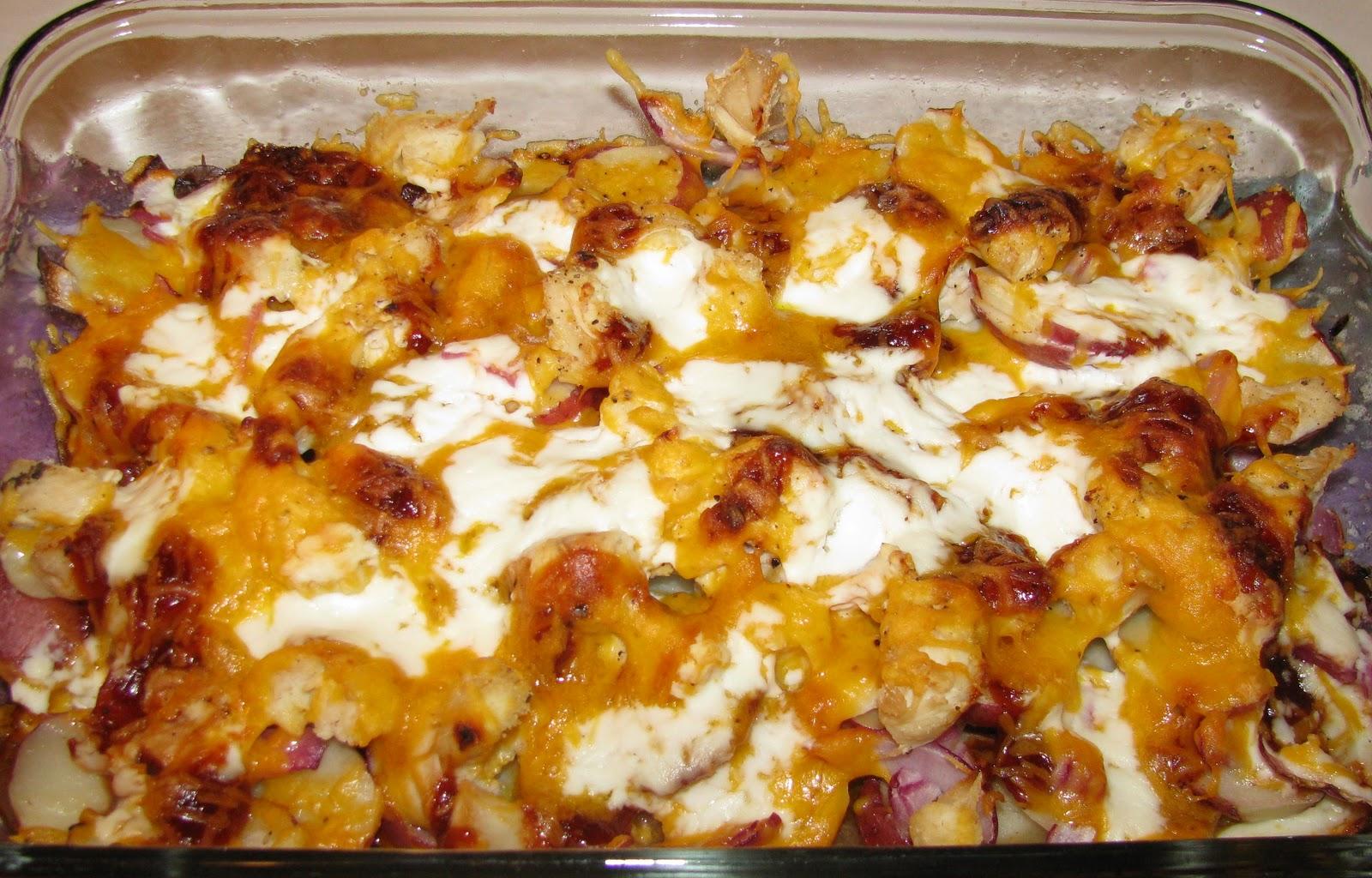 Картофель с куриным филе в духовке с сыром рецепт пошагово