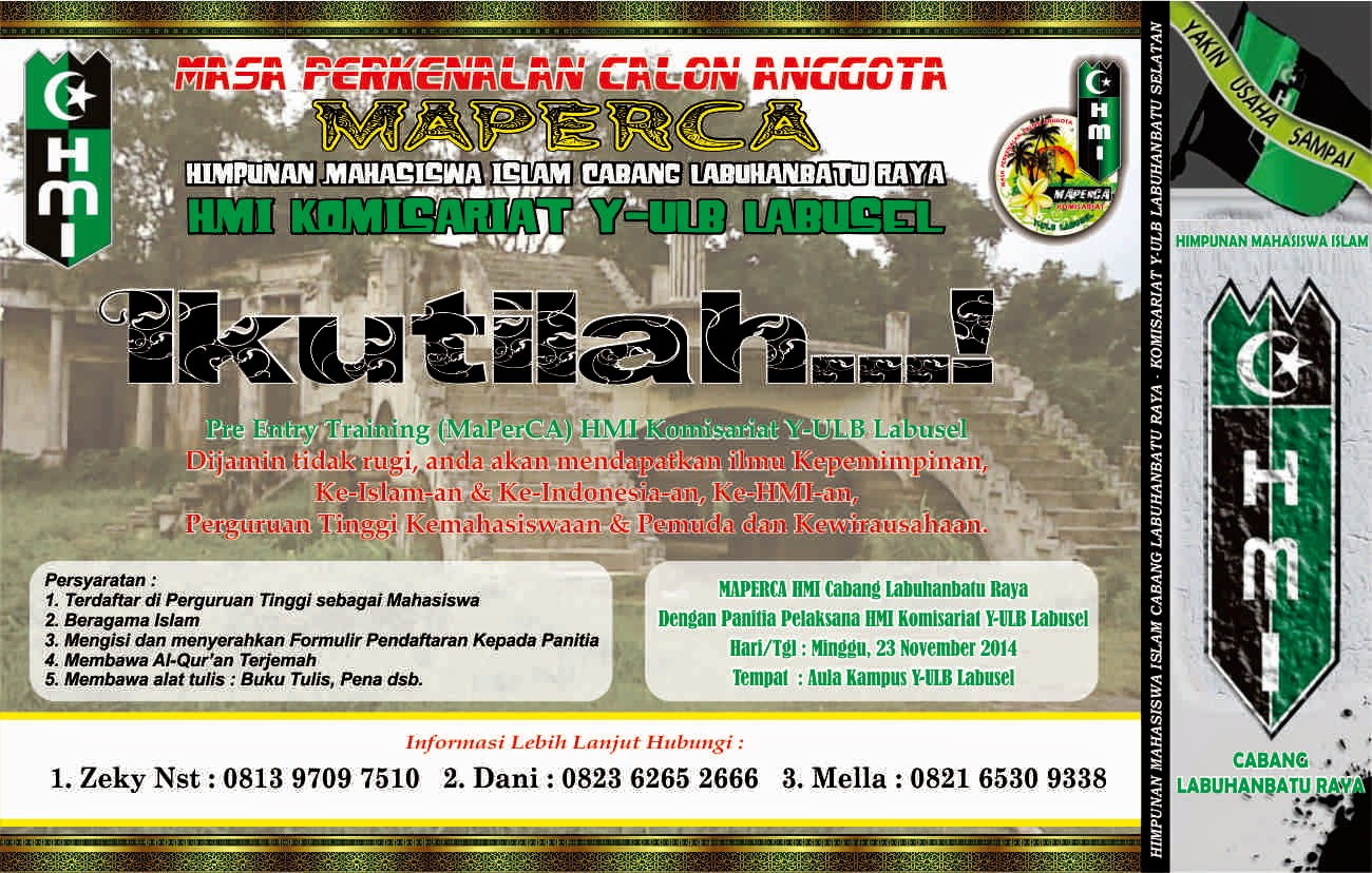 Gambar Raden Arta Gading Brosur Maperca Hmi Contoh Formulir Sapawarga