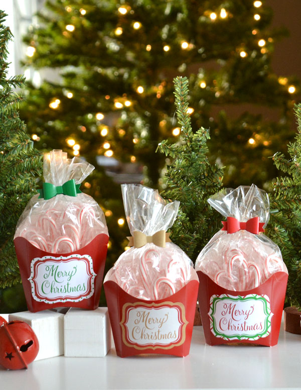 French Fry Box Christmas treat containers