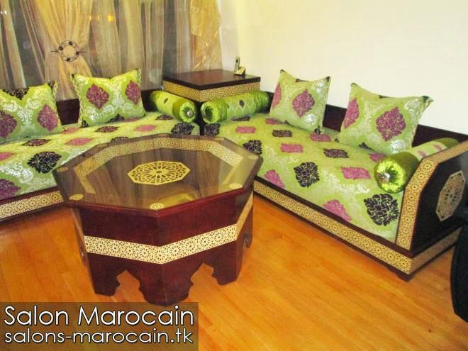 Salon marocain pistache merveilleux
