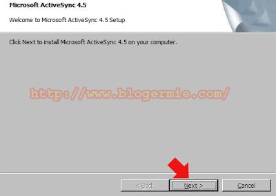 PC sync dan Active Sync Sony ericsson M1I