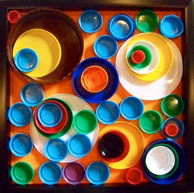 Candice ashment art reduce reuse recycle bottle cap for Bottle cap wall