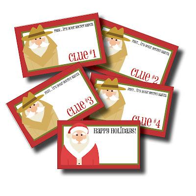 May I Propose A Postcard?: Free Printable Secret Santa gift tags