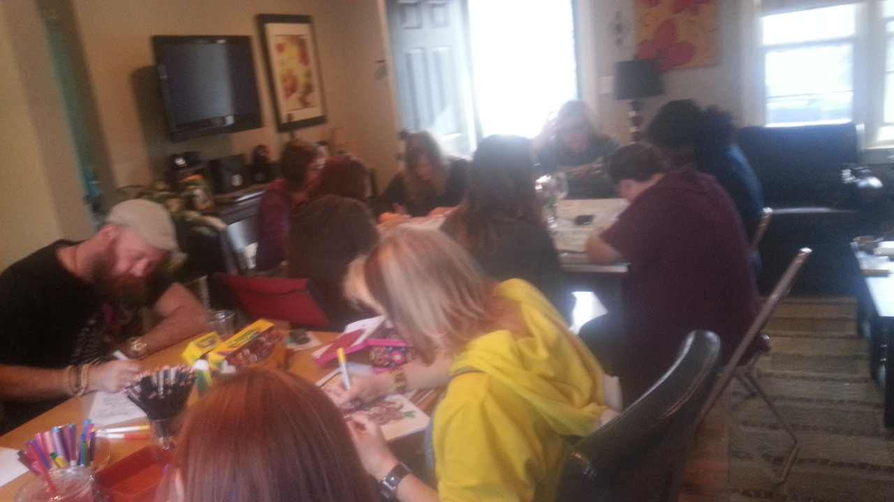 this midwestern the coloring book day party and a few