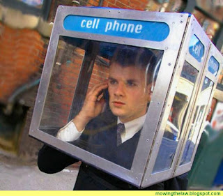 cell phone privacy man in booth mobile law