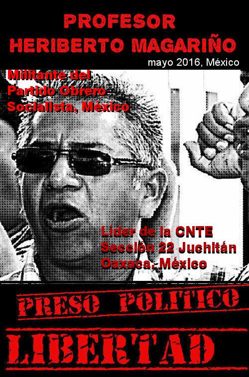 PRESOS POLÍTICOS DE LA CNTE