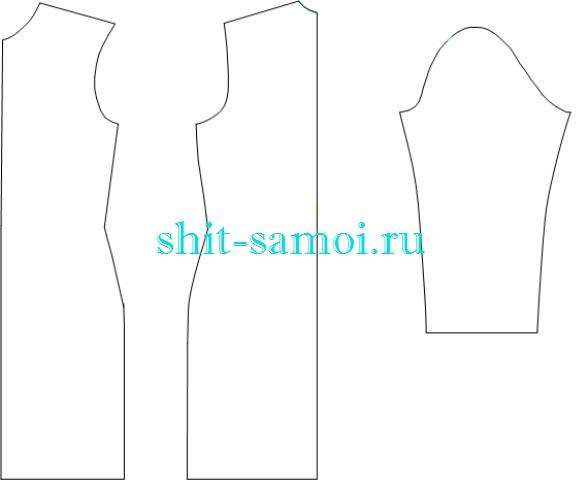 Основу выкройки трикотажного платья